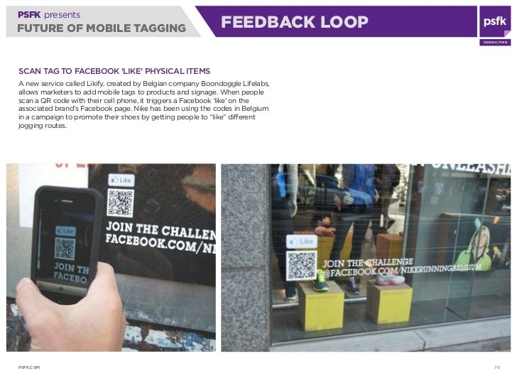 PSFK presents FUTURE OF MOBILE TAGGING                                     FEEDBACK ACCESS                                ...