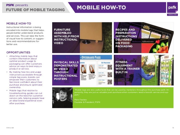PSFK presents FUTURE OF MOBILE TAGGING                              MOBILE HOW-TO                                         ...