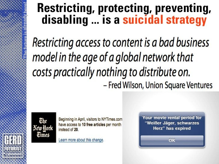 The future is already here!                              Restricting, protecting, preventing,                             ...
