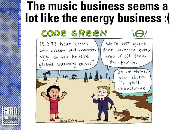 The future is already here!                               The music business seems a                              lot like...