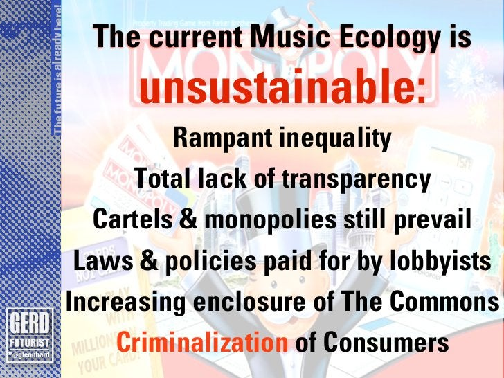 The future is already here!                                The current Music Ecology is                                   ...