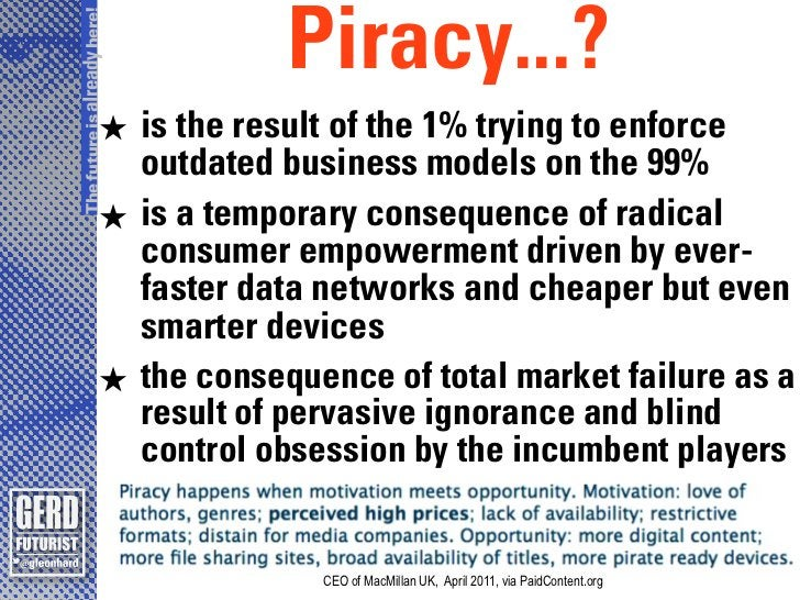 The future is already here!                                   Piracy...?                       ★ is the result of the 1% t...