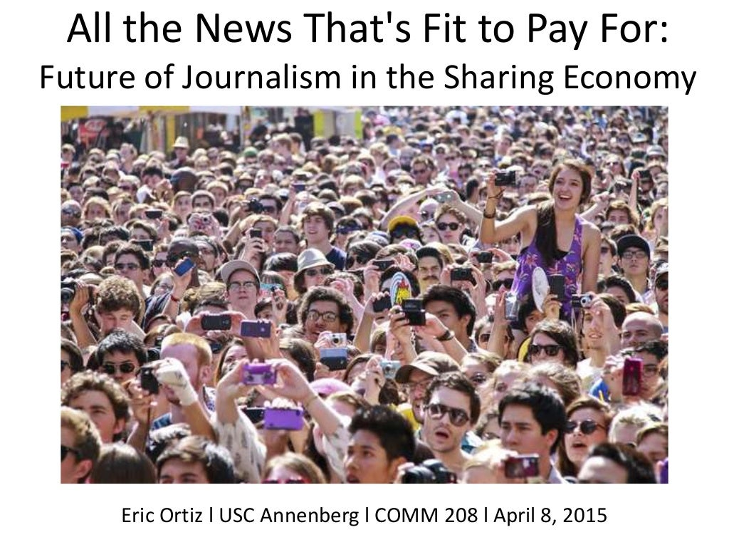 New Business Model for Journalism in Sharing Economy