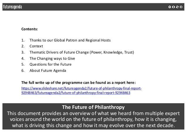Future of philanthropy 2018 - global insights summary Slide 2