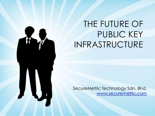 THE FUTURE OF PUBLIC KEY INFRASTRUCTURE SecureMetric Technology Sdn. Bhd. www.securemetric.com