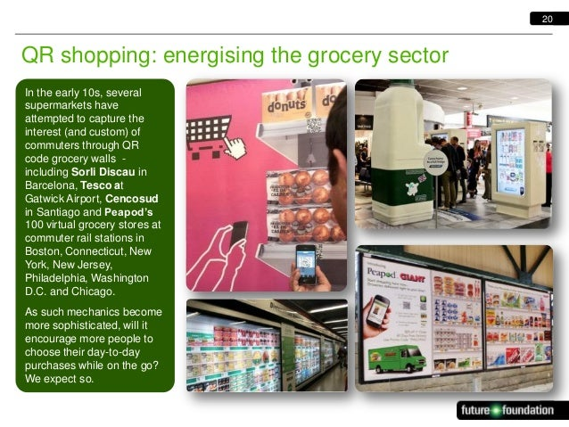 20  QR shopping: energising the grocery sector In the early 10s, several supermarkets have attempted to capture the intere...