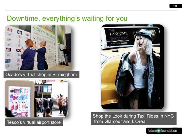 28  Downtime, everything's waiting for you  Ocado's virtual shop in Birmingham  Tesco's virtual airport store  Shop the Lo...