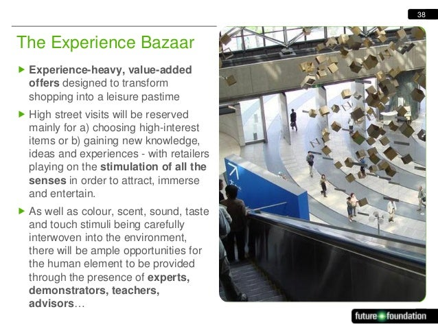 38  The Experience Bazaar  Experience-heavy, value-added offers designed to transform shopping into a leisure pastime  H...