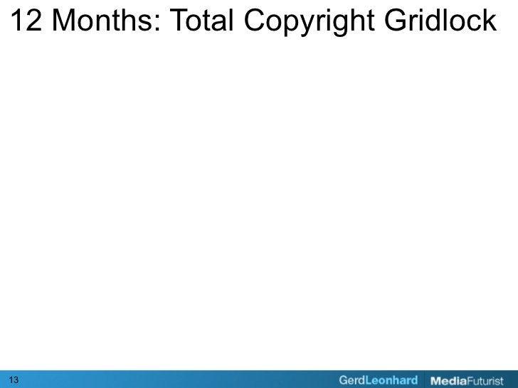 12 Months: Total Copyright Gridlock     13