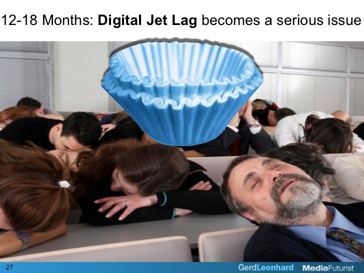 12-18 Months: Digital Jet Lag becomes a serious issue     27