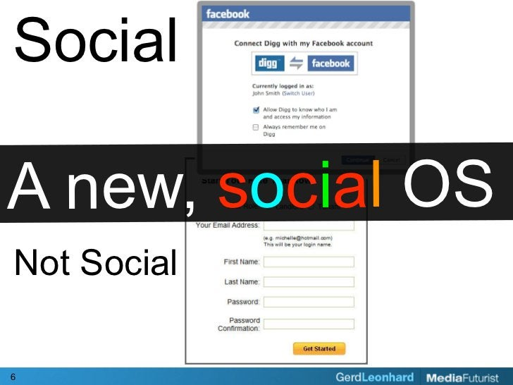 Social  A new, social OS Not Social  6