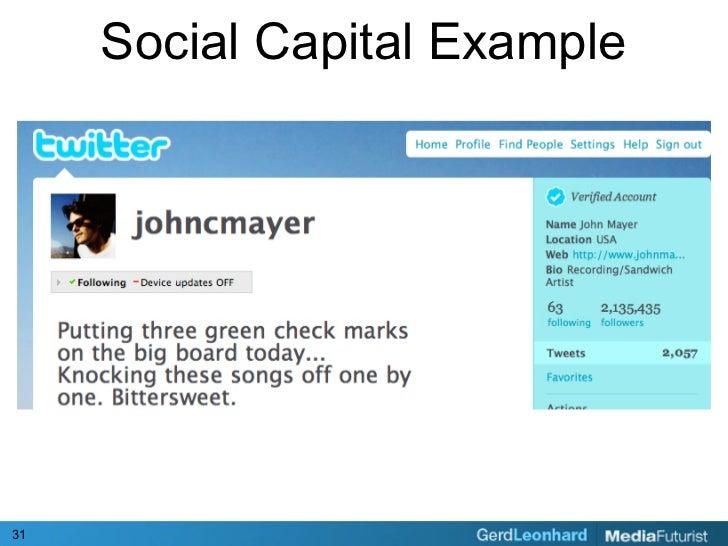 Social Capital Example     31