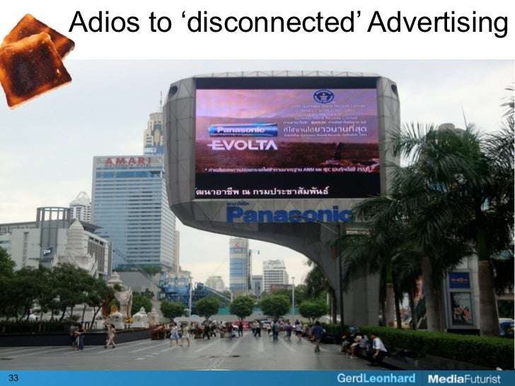 Adios to 'disconnected' Advertising     33