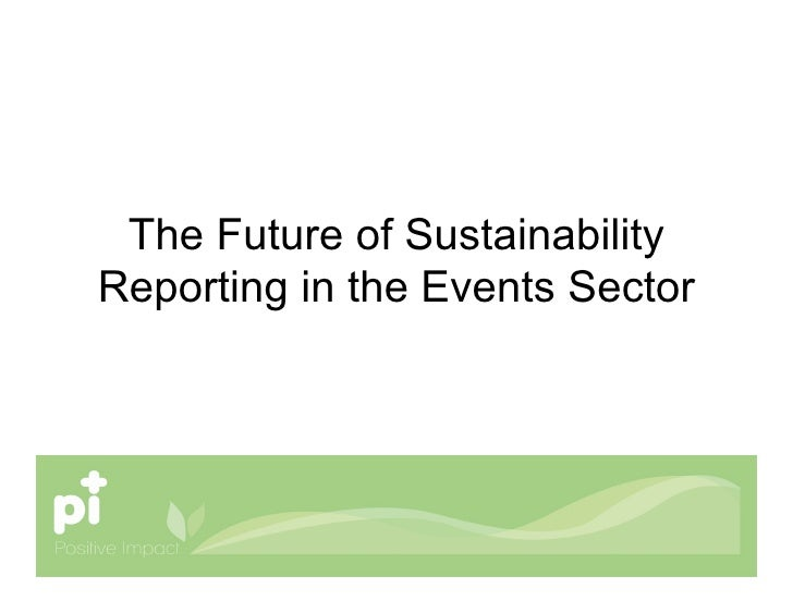 The Future of Sustainability Reporting in the Events Sector