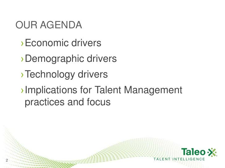 Future of talent management   drivers and trends Slide 2