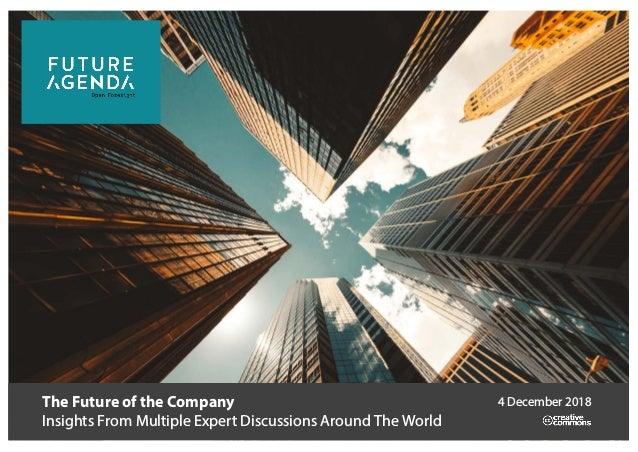 The Future of the Company Insights From Multiple Expert Discussions Around The World 4 December 2018