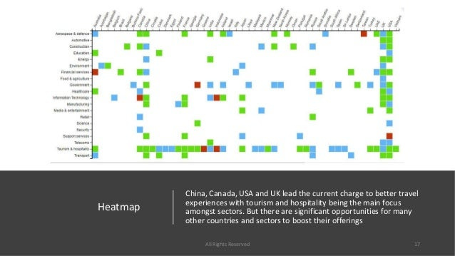 Heatmap China, Canada, USA and UK lead the current charge to better travel experiences with tourism and hospitality being ...