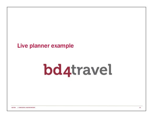Live planner example 16HOXTON | CONFIDENTIAL AND PROPRIETARY