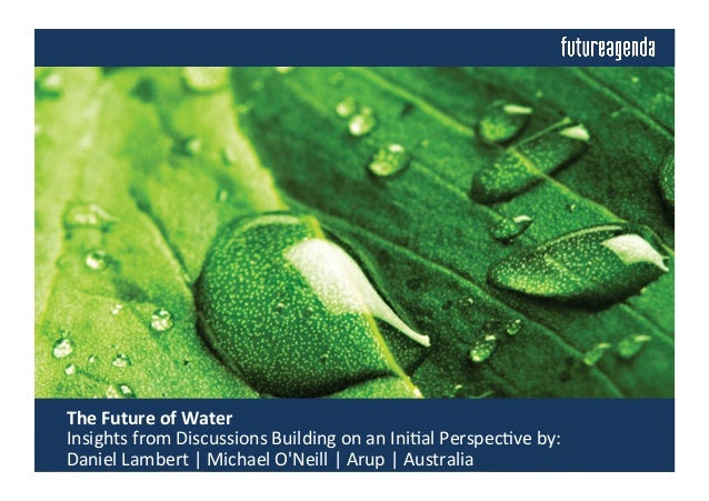 The	   Future	   of	   Water	   	    	   Insights	   from	   Discussions	   Building	   on	   an	   Ini4al	   Perspec4ve	...