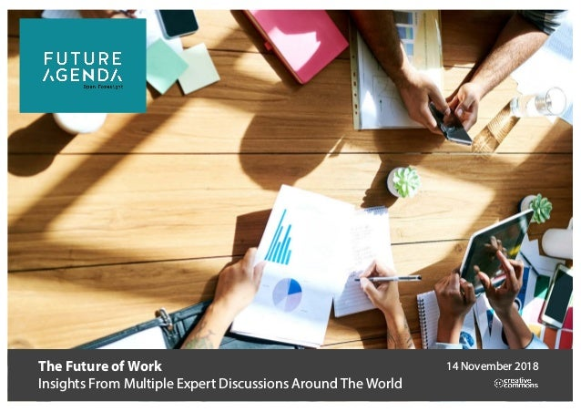 The Future of Work Insights From Multiple Expert Discussions Around The World 14 November 2018