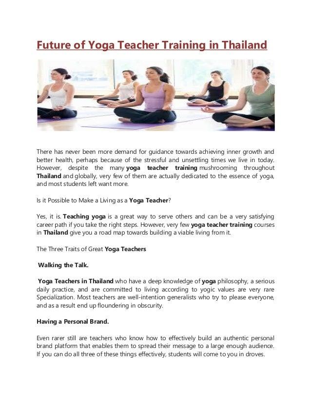 Future Of Yoga Teacher Training In Thailand