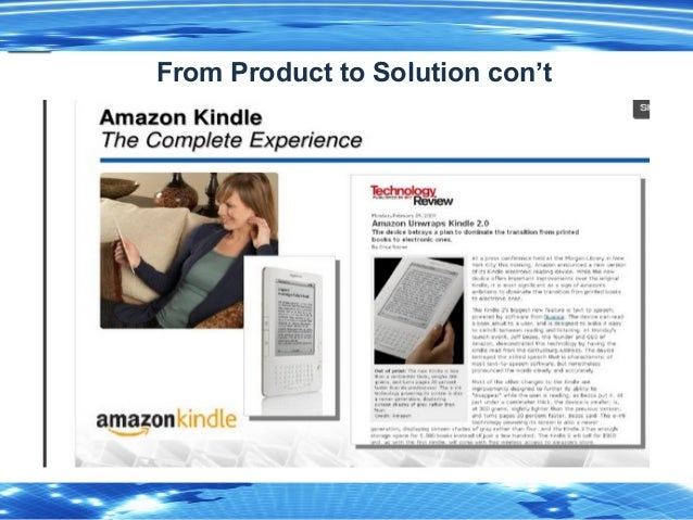 4 From Product to Solution con't
