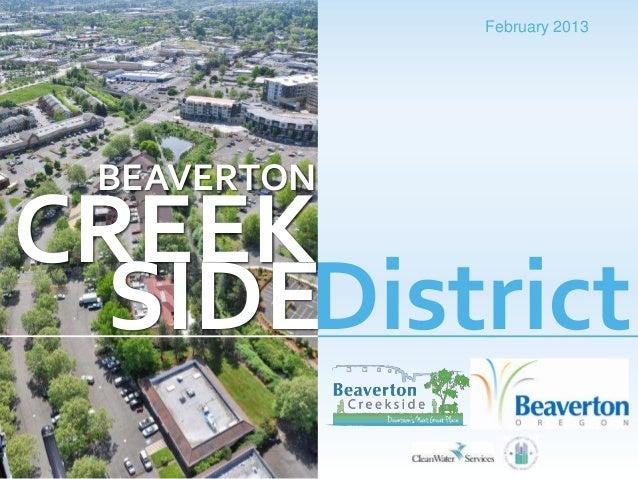 February 2013 BEAVERTONCREEK  SIDEDistrict