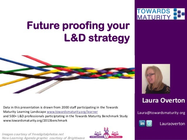Future proofing your L&D strategy  Laura Overton Data in this presentation is drawn from 2000 staff participating in the T...