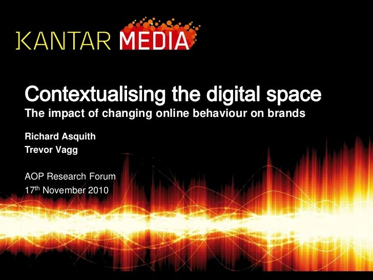 Contextualising the digital spaceThe impact of changing online behaviour on brands <br />Richard Asquith<br />Trevor Vagg<...