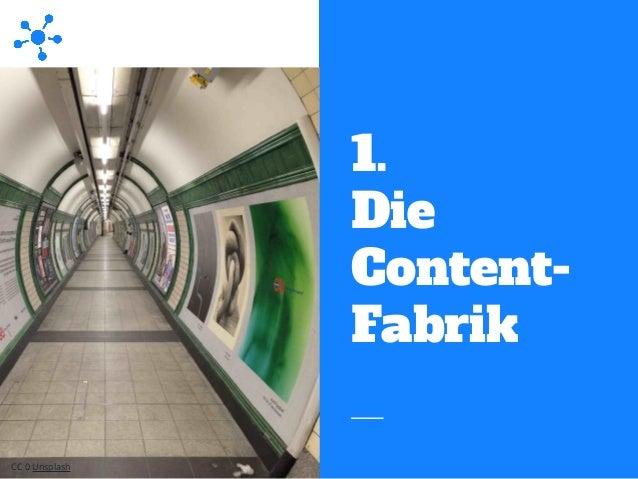 1. Die Content- Fabrik CC 0 Unsplash
