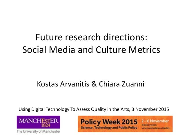 Future research directions: Social Media and Culture Metrics Kostas Arvanitis & Chiara Zuanni Using Digital Technology To ...