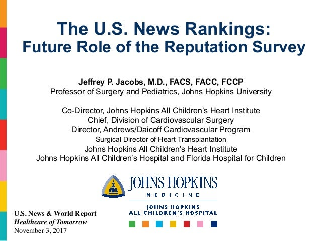 The U S  News Rankings: Future Role of the Reputation Survey