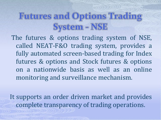 Future and options in indian stock market
