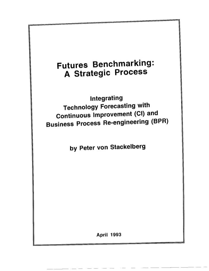 Futures Benchmarking & Technology Forecasting  - Masters Thesis (Part 1)