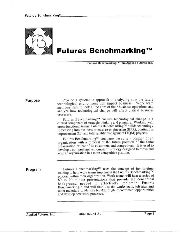 Futures Benchmarking & Technology Forecasting - Overview