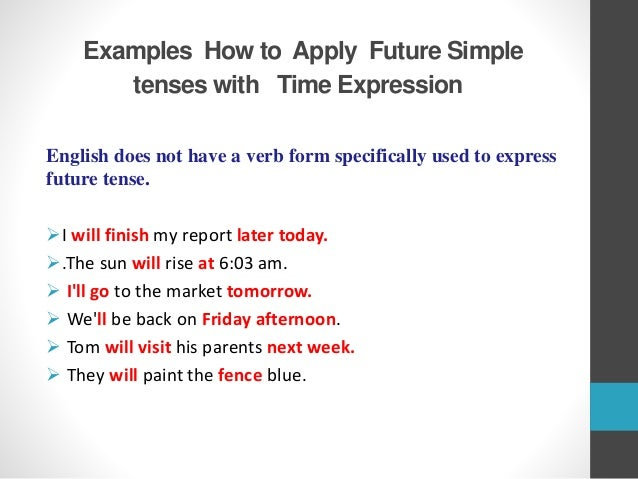 Future Simple Tenses