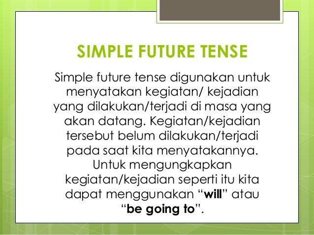 Future Tense Education Ppt
