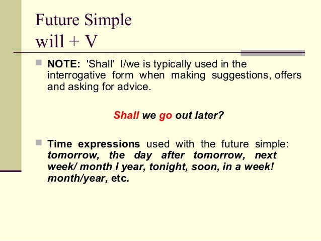 Future Tenses  Form