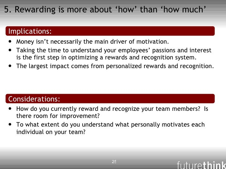introduce team based rather than individual rewards • usually reward individual accomplishment skill or competence-based pay – assumes the individual is the source of value, rather than the job.