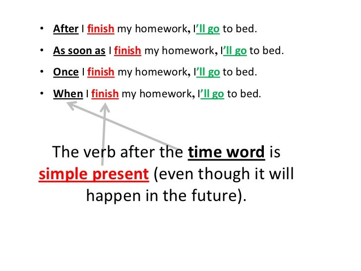 future time clauses exercises pdf