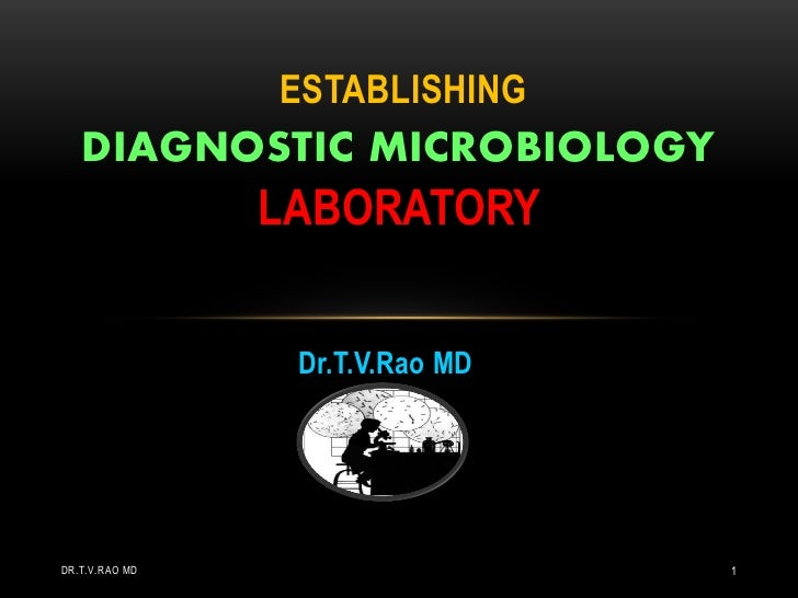 ESTABLISHING   DIAGNOSTIC MICROBIOLOGY                LABORATORY                 Dr.T.V.Rao MDDR.T.V.RAO MD               ...
