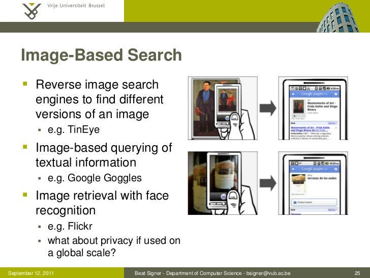 Image-Based Search      Reverse image search          engines to find different          versions of an image           ...