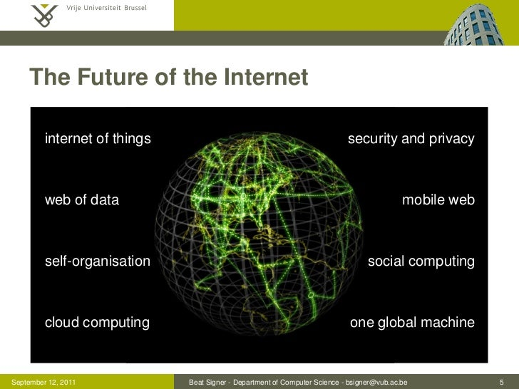 The Future of the Internet         internet of things                                                 security and privacy...