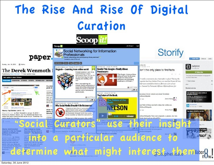 """The Rise And Rise Of Digital                    Curation          """"Social               Curators"""" use their insight       ..."""