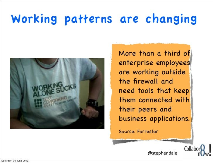 Working patterns are changing                         More than a third of                         enterprise employees   ...