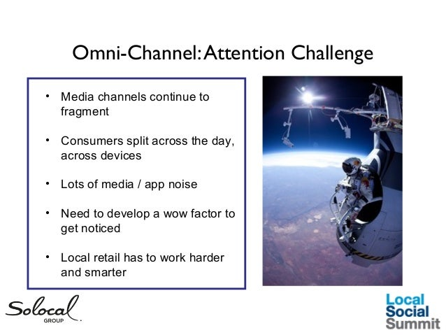 Omni-Channel: Attention Challenge • Media channels continue to fragment • Consumers split across the day, across devices •...