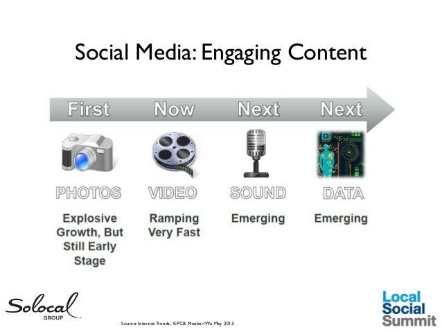 Social Media: Engaging Content  Source: Internet Trends, KPCB Meeker/Wu May 2013