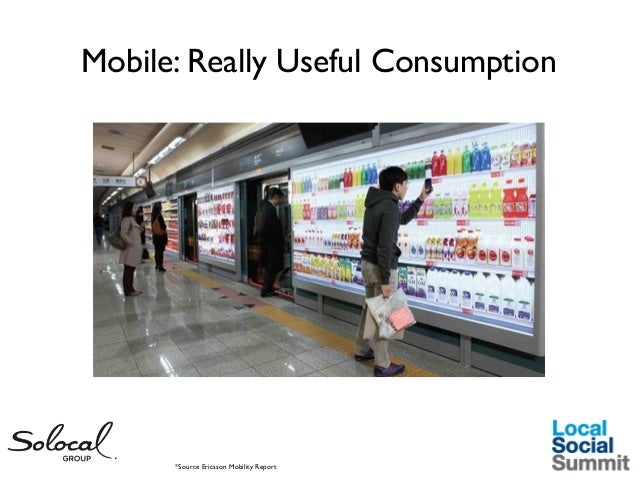Mobile: Really Useful Consumption  *Source Ericsson Mobility Report