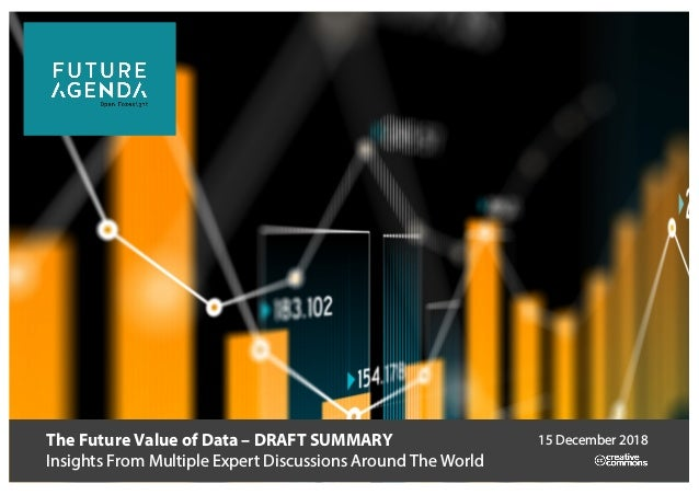 The Future Value of Data – DRAFT SUMMARY Insights From Multiple Expert Discussions Around The World 15 December 2018