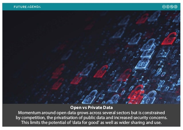 Open vs Private Data Momentum around open data grows across several sectors but is constrained by competition, the privati...